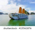 cruise on halong bay  vietnam   Shutterstock . vector #415561876