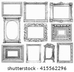 set of vintage frame in draw ... | Shutterstock . vector #415562296