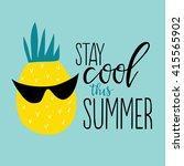 vector summer background with... | Shutterstock .eps vector #415565902