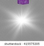 glow light effect. star burst... | Shutterstock .eps vector #415575205
