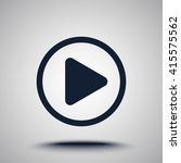 play button sign icon  vector... | Shutterstock .eps vector #415575562