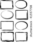 grunge frames with brush... | Shutterstock .eps vector #41557708