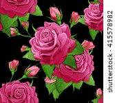 Three Roses. Seamless...