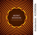 abstract orange circle border... | Shutterstock .eps vector #415585006