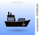 flat ship icon. | Shutterstock .eps vector #415585102