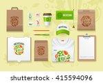 vector food identity template... | Shutterstock .eps vector #415594096