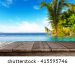 empty wooden planks with blur... | Shutterstock . vector #415595746