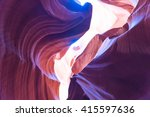 antelope canyon in the navajo... | Shutterstock . vector #415597636