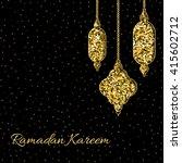 ramadan kareem greeting card... | Shutterstock .eps vector #415602712