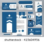 professional blue luxury... | Shutterstock .eps vector #415604956