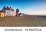The Seafront And Beach At...