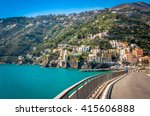 breathtaking road in the... | Shutterstock . vector #415606888