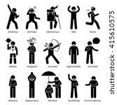 positive good personalities... | Shutterstock . vector #415610575
