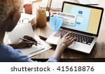 secured access protection... | Shutterstock . vector #415618876
