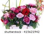 assorted artificial flower... | Shutterstock . vector #415621942