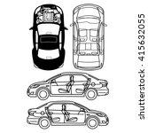 car repair engine vector | Shutterstock .eps vector #415632055