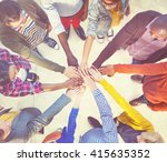 diverse and casual people and... | Shutterstock . vector #415635352
