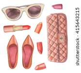 Fashion wardrobe objects set....