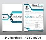 blue technology annual report...   Shutterstock .eps vector #415648105
