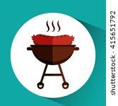delicious bbq  design  | Shutterstock .eps vector #415651792