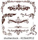 art nouveau elements and... | Shutterstock .eps vector #415663912