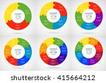 collection of infographic... | Shutterstock .eps vector #415664212