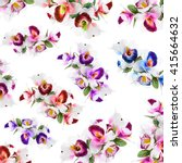 Pattern Flower Orchid Print In...