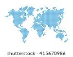 world map   pixel style   | Shutterstock .eps vector #415670986