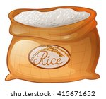 bag of rice on white background ... | Shutterstock .eps vector #415671652