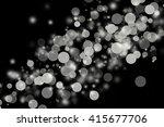 bokeh lights on black...   Shutterstock . vector #415677706