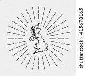 vector united kingdom map... | Shutterstock .eps vector #415678165