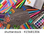 back to school concept on... | Shutterstock . vector #415681306