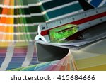 close up of color guide spread... | Shutterstock . vector #415684666