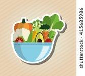 organic food design. healthy... | Shutterstock .eps vector #415685986