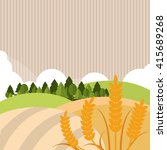 wheat icon. landscape design.... | Shutterstock .eps vector #415689268