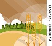 wheat icon. landscape design.... | Shutterstock .eps vector #415689355