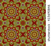 mandala doodle drawing.... | Shutterstock .eps vector #415690846