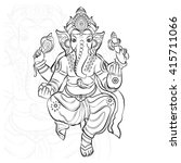 a statue of an indian god  lord ... | Shutterstock .eps vector #415711066
