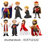 different characters of king...   Shutterstock .eps vector #415712122