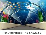 Public Aquarium With Fish And...
