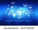world map business background | Shutterstock . vector #415716232