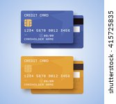 credit cards illustration. blue ... | Shutterstock .eps vector #415725835