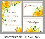invitation with floral... | Shutterstock .eps vector #415731592