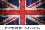 Great Britain Flag On A Dark...