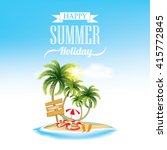 summer holiday   beach holiday | Shutterstock .eps vector #415772845
