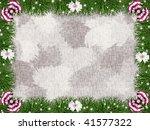greeting  christmas frame.... | Shutterstock . vector #41577322