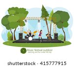music concert in the park.... | Shutterstock .eps vector #415777915