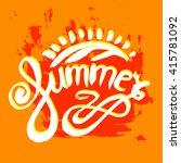 orange summer typographic... | Shutterstock .eps vector #415781092