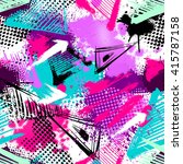 abstract seamless chaotic... | Shutterstock .eps vector #415787158