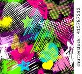 grunge seamless pattern for... | Shutterstock .eps vector #415787212